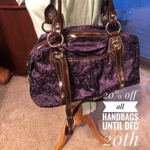 Giani Bernini purple purse crossbody or shoulder